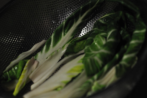 Swiss Chard Sliced and Washed