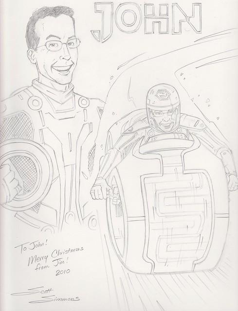 Tron sketch by Scott DM Simmons