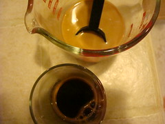 coffee with and without condensed milk