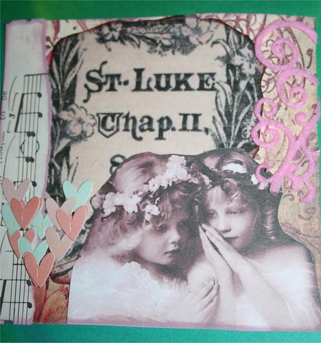 "St. Luke-Angels 4"" x 4"" Collage card"
