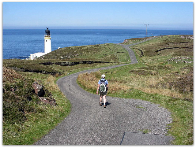 Approaching Rua Reidh lighthouse