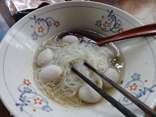 Noodles and pork balls