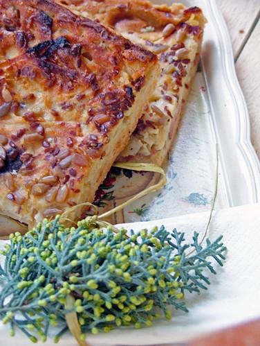 schwäbischer zwiebelkuchen - quiche di cipolle di andrea