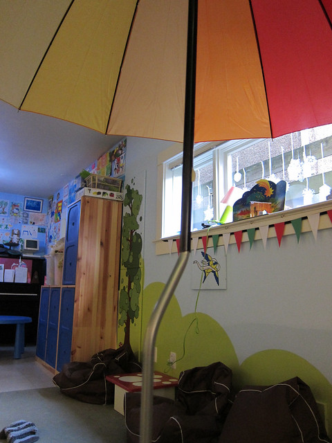 Speaker Stand to Patio Umbrella