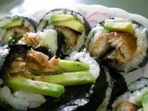Melissa's homemade sushi