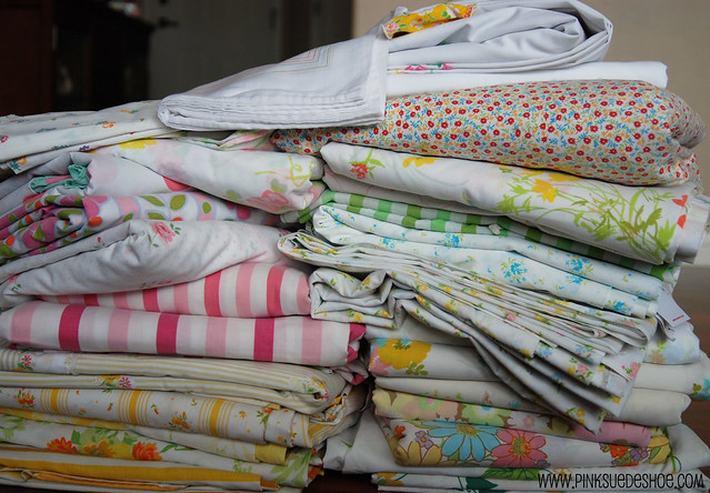 Vintage Sheets Pile