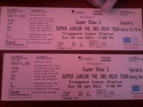 supershow3 ticket