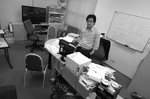 The first day in office in early 2011 with a new spirit!