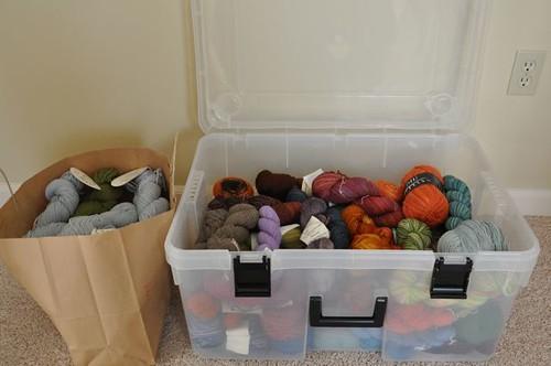 Yarn stash January 2011.