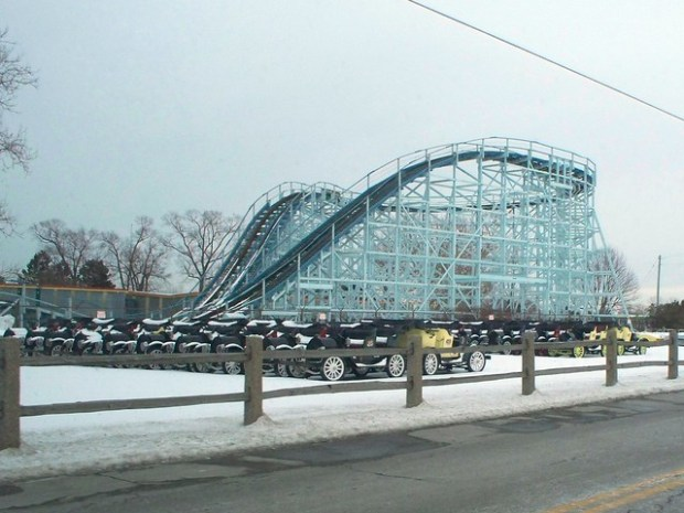 Cedar Point - Off-Season Cadillac Cars