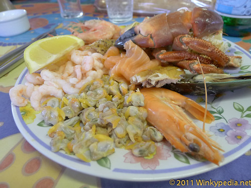 The Seafood platter at the Company Shed