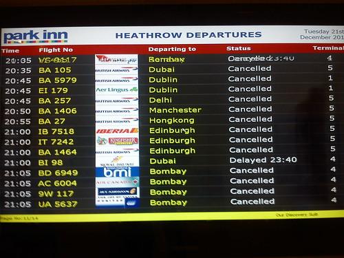 Flight status, Heathrow