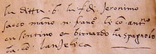 Jewish Surnames 1542 MS
