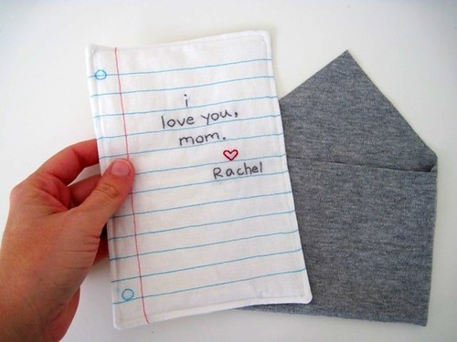 embroidered note