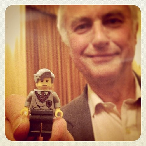 Richard Dawkins with LEGO minifig likeness (instagram)