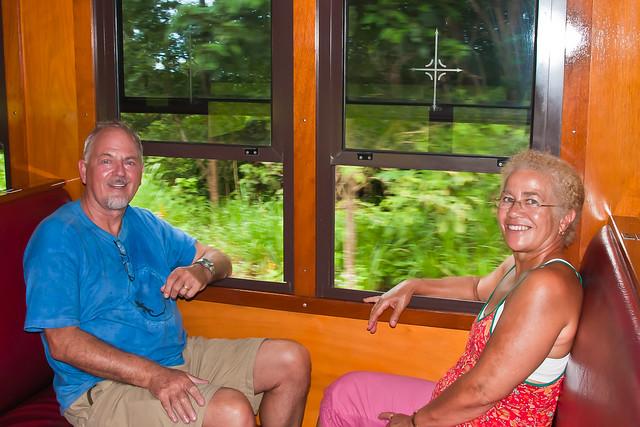 Chris and Graeme on the Kuranda Railway