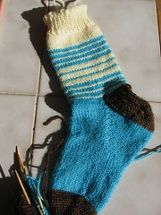 a4a Vanilla Striped sock1a
