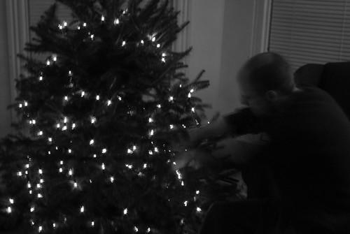 Hanging ornaments b&w