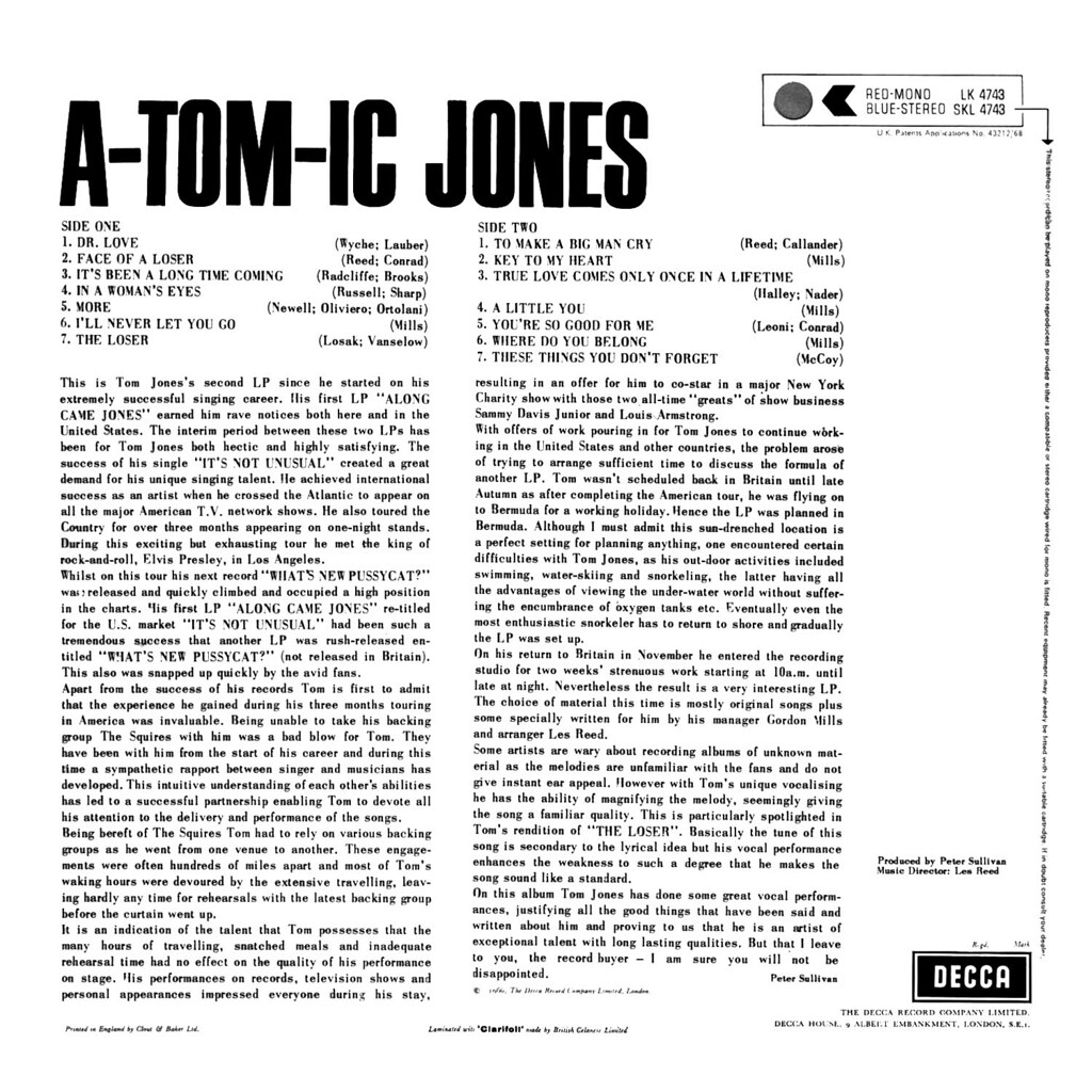 Tom Jones - A-Tom-Ic Jones