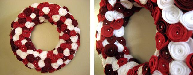Rosette Wreath, two shots