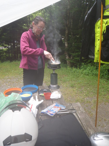 Scrambled eggs & home fries in Chignecto North campground