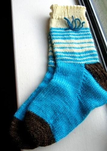 a4a Vanilla Striped sock1b