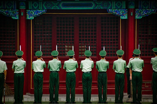Chinese Soldiers in The Forbidden City - Beijing, China by Patrick Rodwell