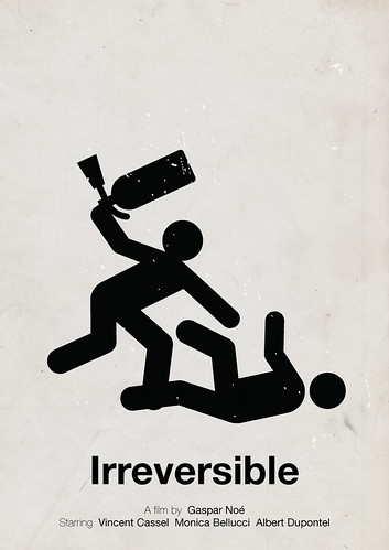 'Irreversible' pictogram movie poster