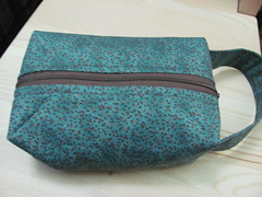 teal flowers bag - outer