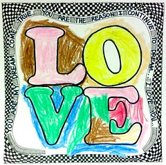 Art Journal Every Day: Love as a 6-year-old knows it