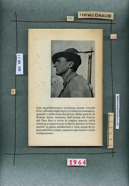 Cristoforo M. Negri, I lunghi fucili. Einaudi 1964. Quarta di sovracoperta.
