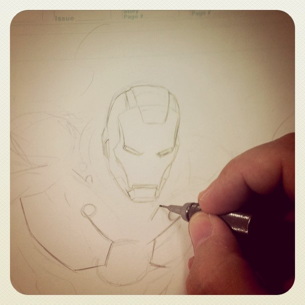 Previows sketches - #IronMan illustration