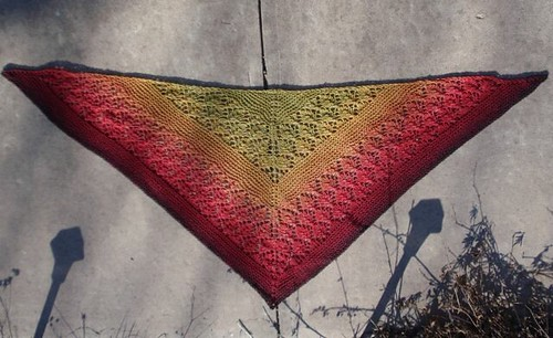 Maple Madrona Shawl full view