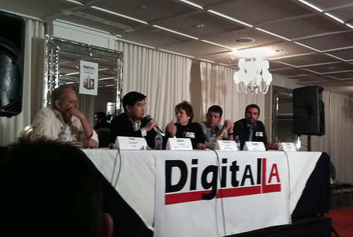 Panelists at a Digital LA event in Hollywood discuss