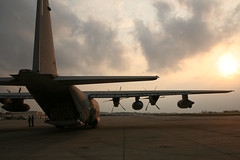 Marine KC-130J heads to deliver relief supplies