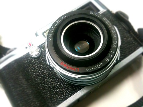 Fuji X100 with Pentax DA 40mm f/2.8 :-)