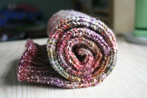 in progress :: handspun toe-up knee-high socks