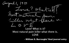 William S. Burroughs' final journal entry - LOVE