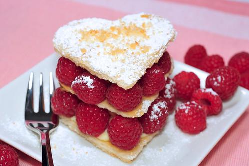 Heart-Shaped Raspberry Napoleon