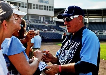 Tampa Bay Rays Manager Joe Maddon, Port Charlotte, Fla., March 8, 2011