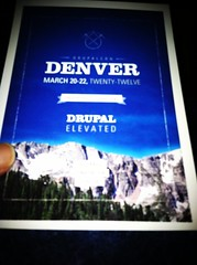 Just found out Drupalcon is in Denver next year. I'd love to visit @bpm140 @penguin @Micah's backyard