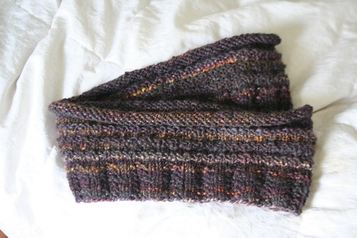 knitted :: Handspun Eternity Scarf