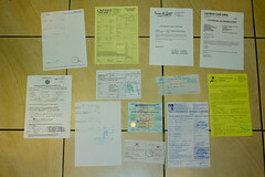 Paperwork for 3 border crossings