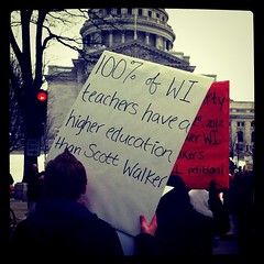 100% of WI teachers have a higher education th...