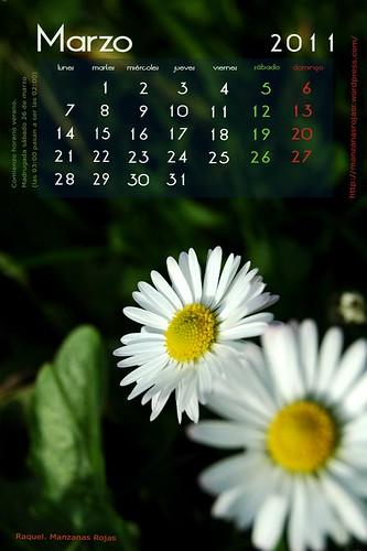 Calendario 2011. Marzo