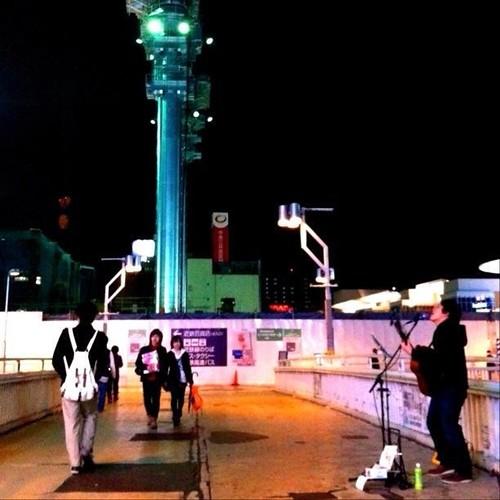 歌うたいのバラッド♪ 大丈夫、しっかり見てるから…クレーン! #Osaka #Abeno #crane