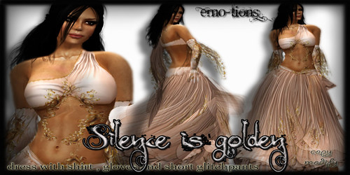 Silence is golden dress  by EMOtions @ The Deck