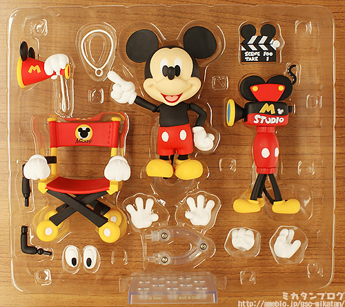 Nendoroid Mickey Mouse's parts and accessories