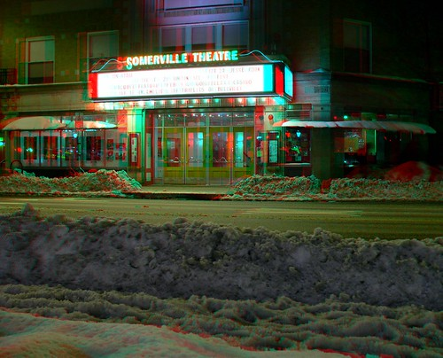 Somerville Theatre in 3D Anaglyph
