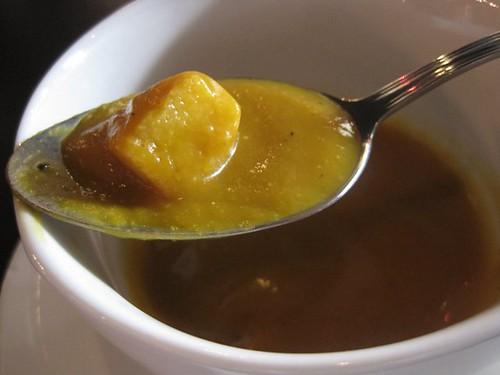 Charcoal Grill - pumpkin soup & croutons 2